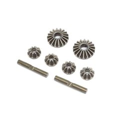 Diff Gear & Cross Pin Set, Metal: 22X-4