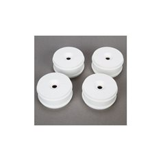 1/8 Buggy Dish Wheel, White (4): 8B 3.0