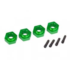Traxxas 8269G Wheel Hubs 12mm Hex Alu Green (4) TRX-4