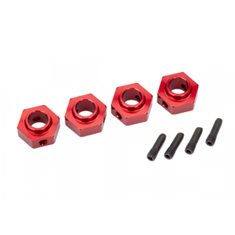 Traxxas 8269R Wheel Hubs 12mm Hex Alu Red (4) TRX-4
