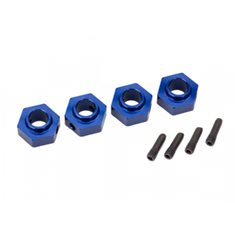 Traxxas 8269X Wheel Hubs 12mm Hex Alu Blue (4) TRX-4