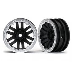 "Traxxas 8271X Wheels TRX-4 Black-Satin 1.9"" (2)"