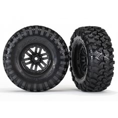 "Traxxas 8272 Tires & Wheels Canyon Trail/TRX-4 Black 1.9"" (2)"