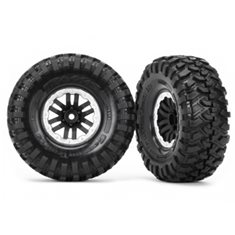 "Traxxas 8272X Tires & Wheels Canyon Trail/TRX-4 Black-Satin 1.9"" (2)"