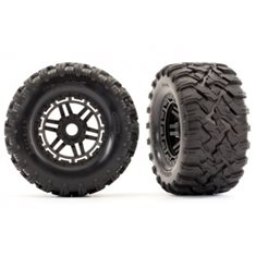 "Traxxas 8972 Tires & Wheels Maxx/Black (17mm) 2,8"" TSM (2)"