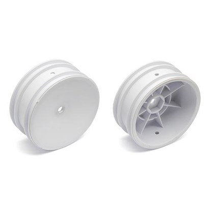 Buggy Front Hex Wheels, 2.2 in/12 mm, white, 2wd 9690