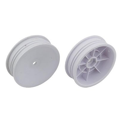 "2WD Slim Front Wheels, 2.2"", 12mm hex, white 91757."