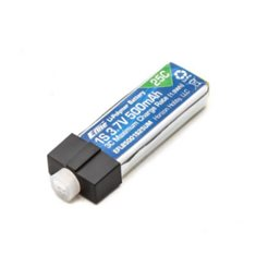 3.7V 500mAh 1S 25C LiPo, High Current UMX Connector