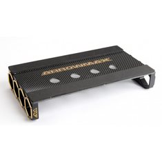 CAR STAND ONROAD 1/10 BLACK GOLDEN CARBON