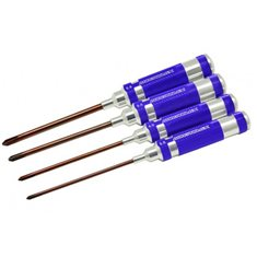PHILLIPS SCREWDRIVER SET 3.5, 4.0, 5.0 & 5.8 X 120MM 4PCES