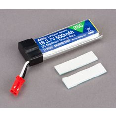 500mAh 1S 3.7V 25C LiPo Battery: JST